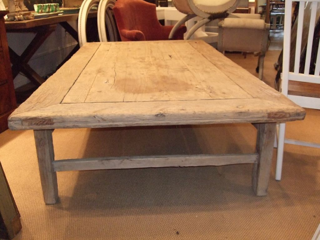 Large Rustic Plank Top Coffee Table