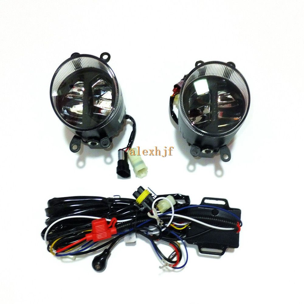 Yeats 1400LM 24W LED Fog Lamp, High-beam Low-beam 560LM DRL Case For ...