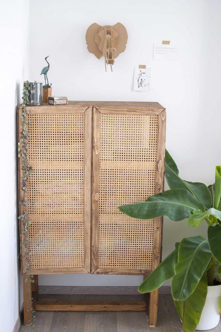 DIY cabinet with rattan webbing | Kast maken ...