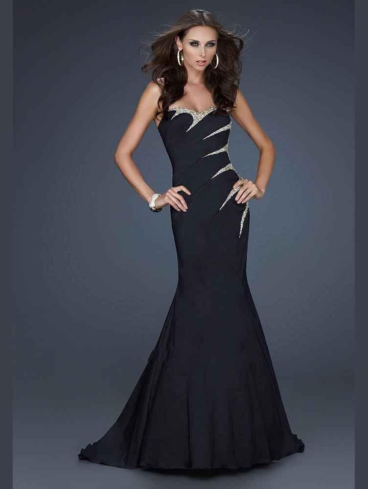 Trumpet/Mermaid Strapless Sweetheart Taffeta Prom Dress In Canada Prom Dress Prices