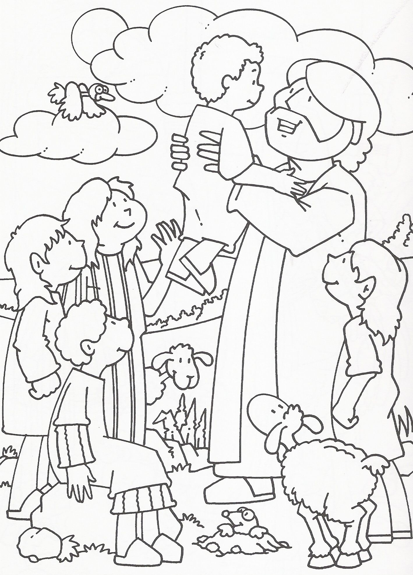 Bible Coloring Pages for Kids (Download Now) PDF Printables | 1972x1418