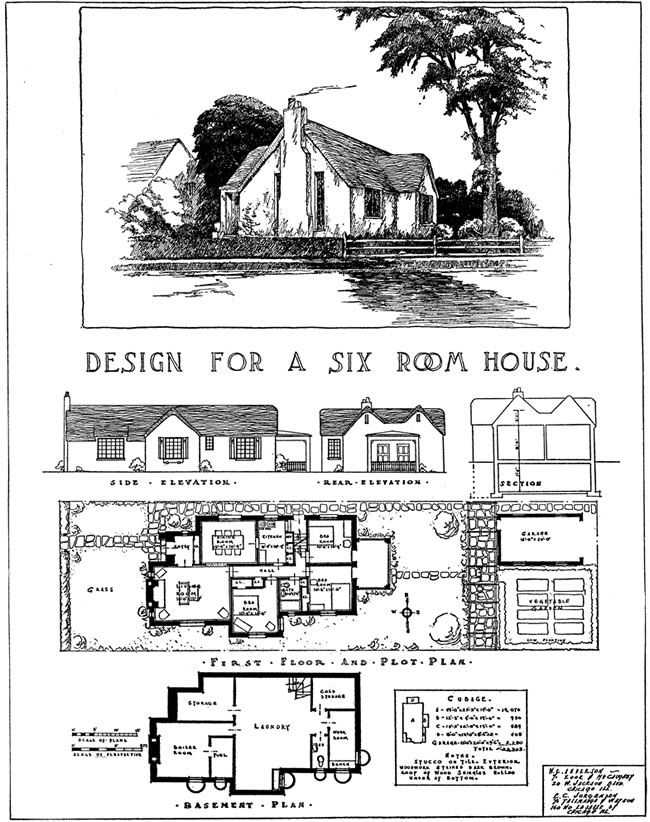 ELEGANT SMALL HOMES OF THE TWENTIES: 99 Designs from a