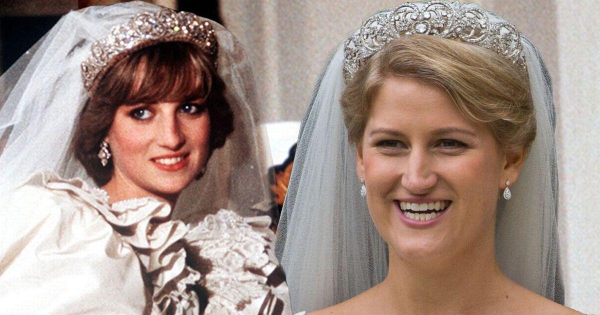 Bride marries wearing Princess Diana's wedding day tiara