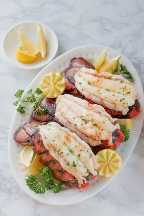 Baked Lobster Tails + Video images