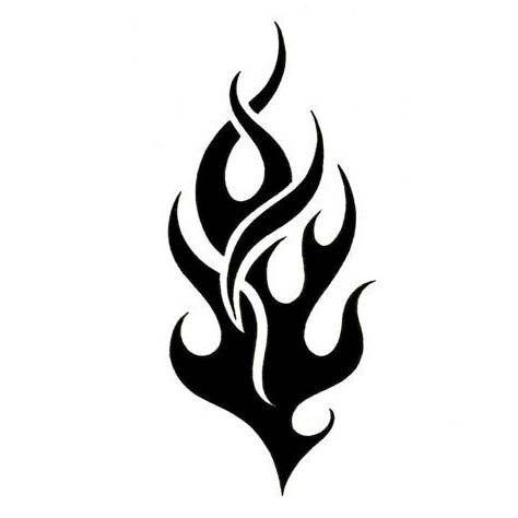30 Flame Tattoo Design Stencils Clipart Best Clipart Best Flame Tattoos Tribal Tattoo Designs Fire Tattoo