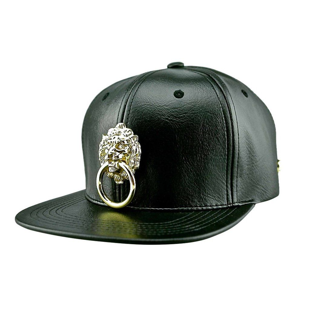 a80befa3d Faux Leather Snapback Hat | Products | Leather snapback, Snapback ...