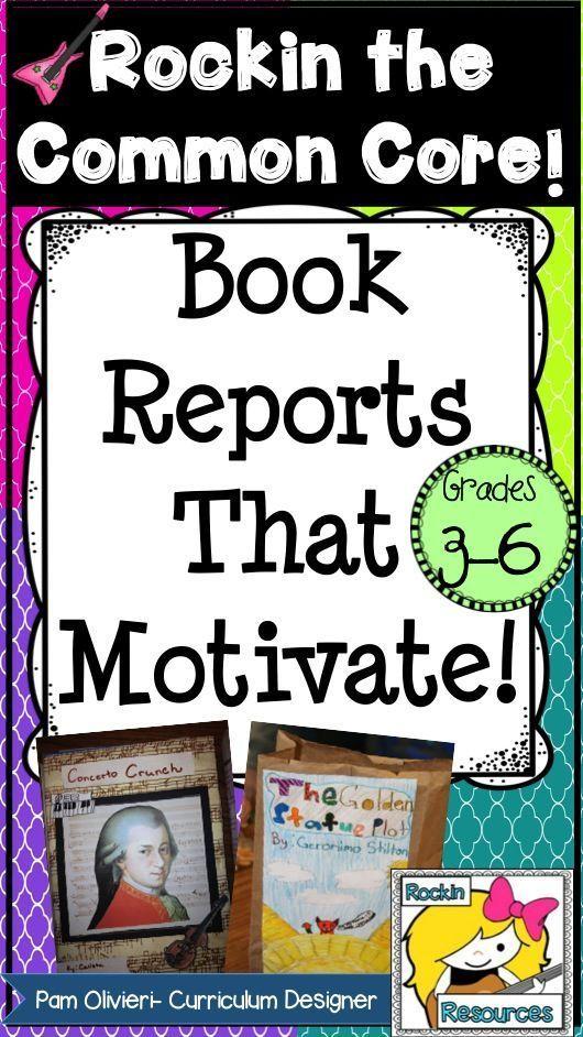 Book Reports that Motivate! Pick a Genre Pinterest Paper bag