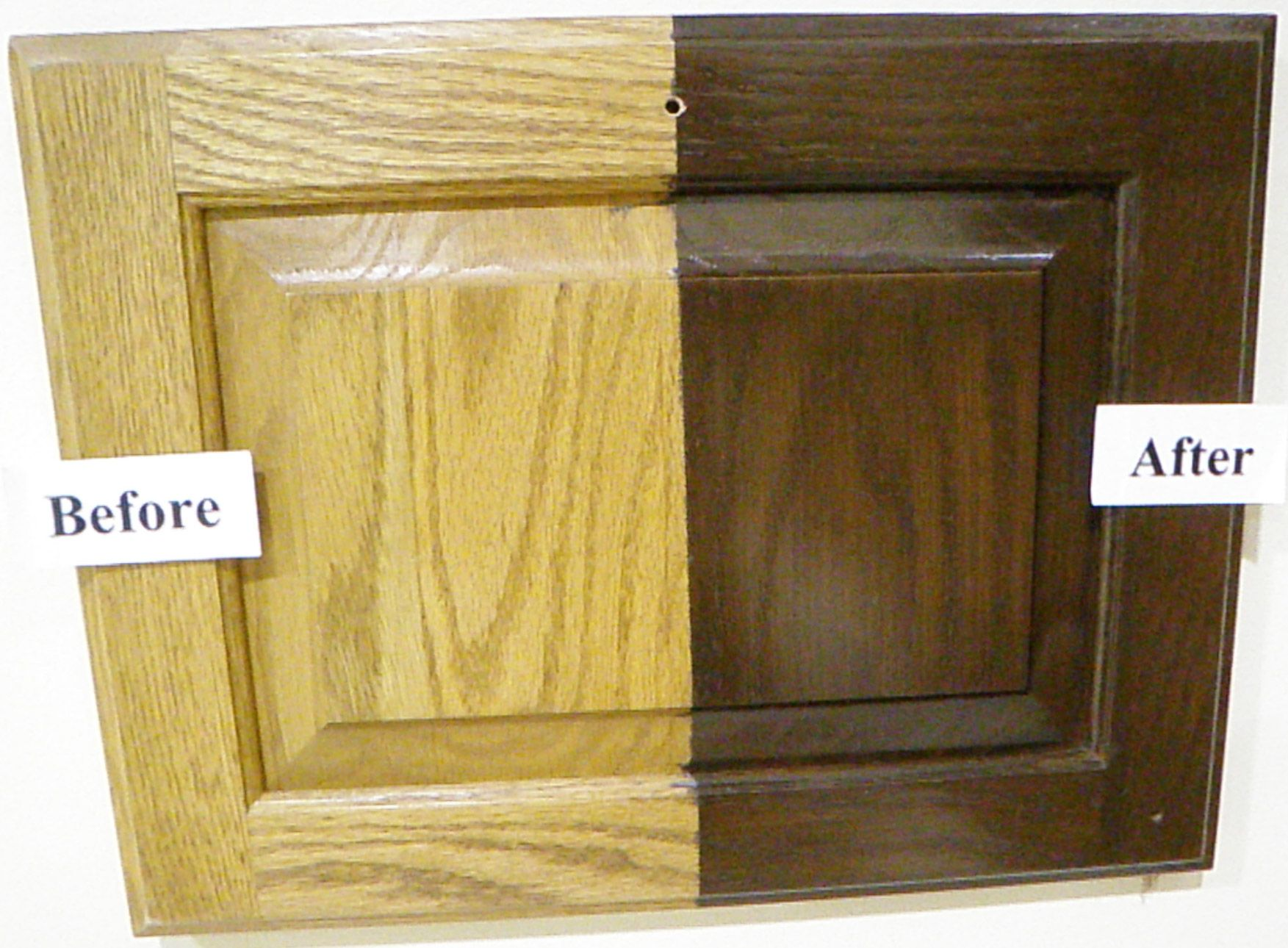 How to transform oak cabinets cabinet refinishing for Best way to refinish oak kitchen cabinets