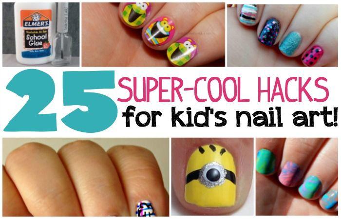 25 Kid\'s Nail Art Hacks | Nail art hacks, Art hacks and Kid nails