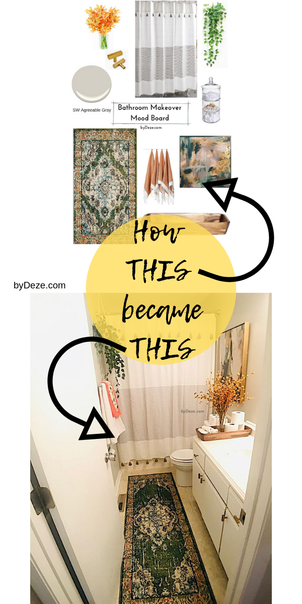 My Small Bathroom Makeover Before And After Part 4 The Reveal Bydeze Small Bathroom Makeover Bathroom Makeover Home Decor