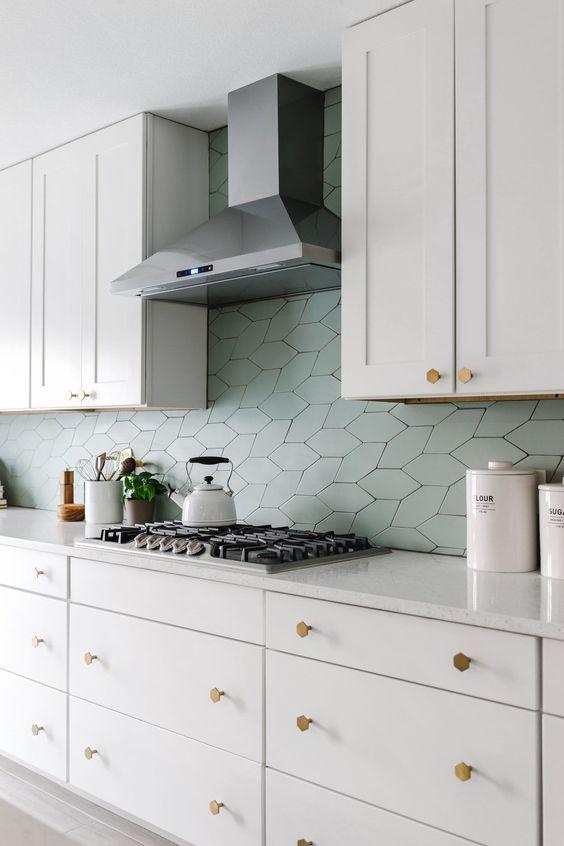 Abstract Tiles Shapes 1 Scandinavian Kitchen Kitchen Design Scandinavian Kitchen Design