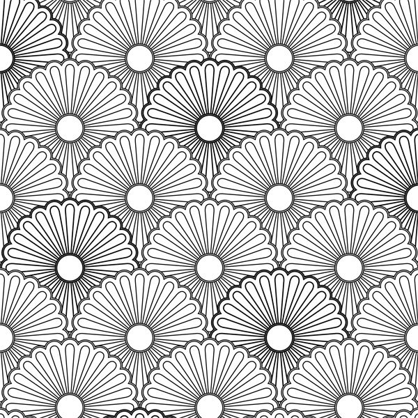 a page from the gorgeous vintage patterns creative colouring book for grown ups - Coloring Book Patterns