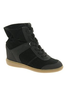 ALDO Anuka Black Wedge Sneakers