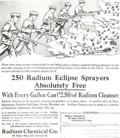 An Advertisement For Radium Eclipse Sprayers A Product