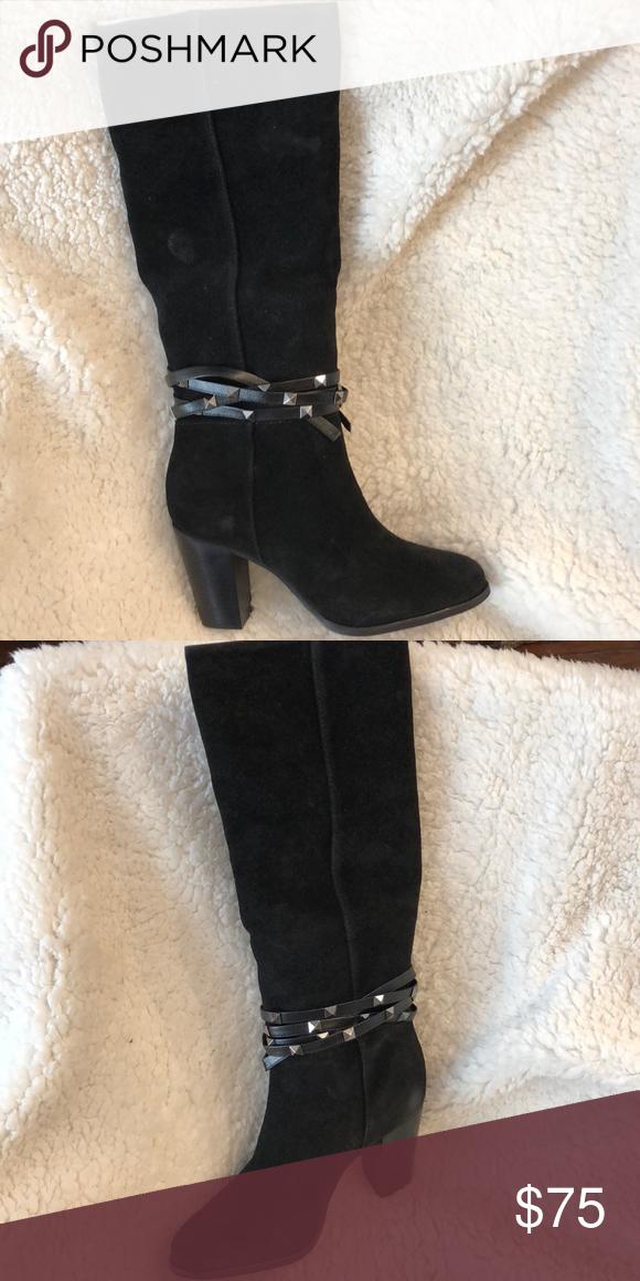 202fce11f55 Antonio Melani Black Suede Heel Boot Antonio Melani Black Suede Heel Boot  Narrow Calf NIB ANTONIO MELANI Shoes Heeled Boots
