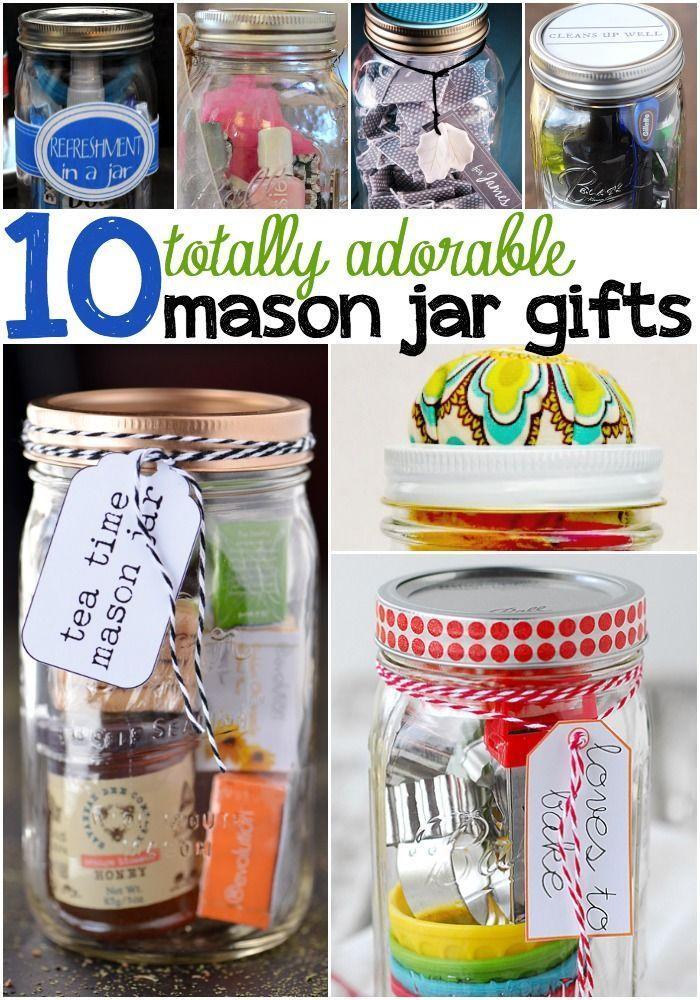 10 Super Cute Mason Jar Gifts Jar Gifts Mason Jar Gifts Mason Gifts