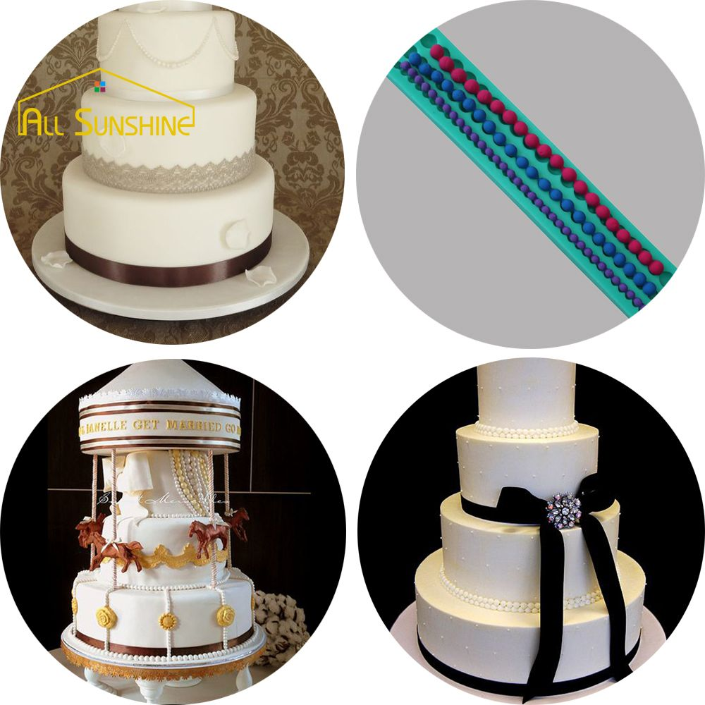the best Pearls Strip Silicone Mold Fondant Cake Tools Kitchen ...