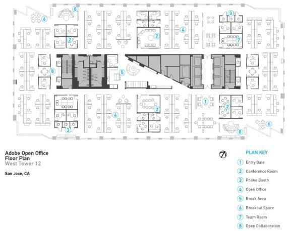 adobe open floor plan open office space pinterest open floor