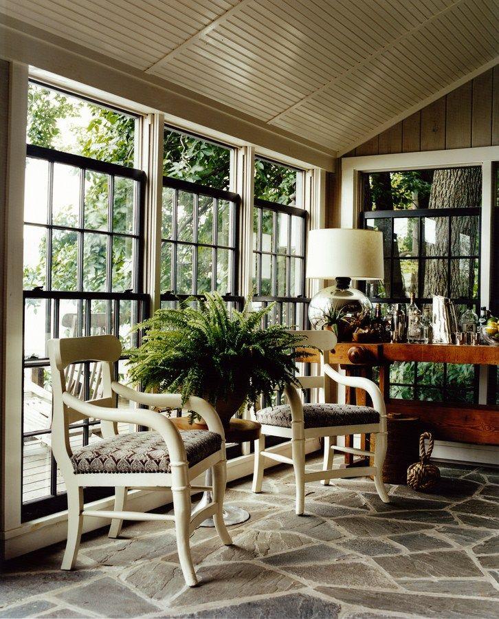 Lake House Living Room Decor: Copake Lake House - Patio - Lake Living