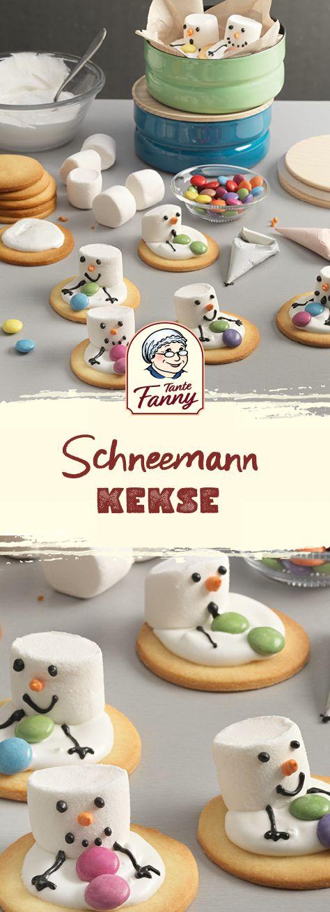 Süße Schneemann-Kekse #marshmallow