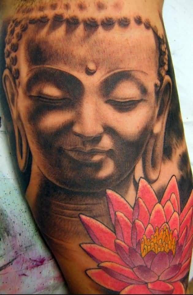 Latest buddha and lotus flowers tattoo design by ink 15 tattoos latest buddha and lotus flowers tattoo design by ink 15 mightylinksfo