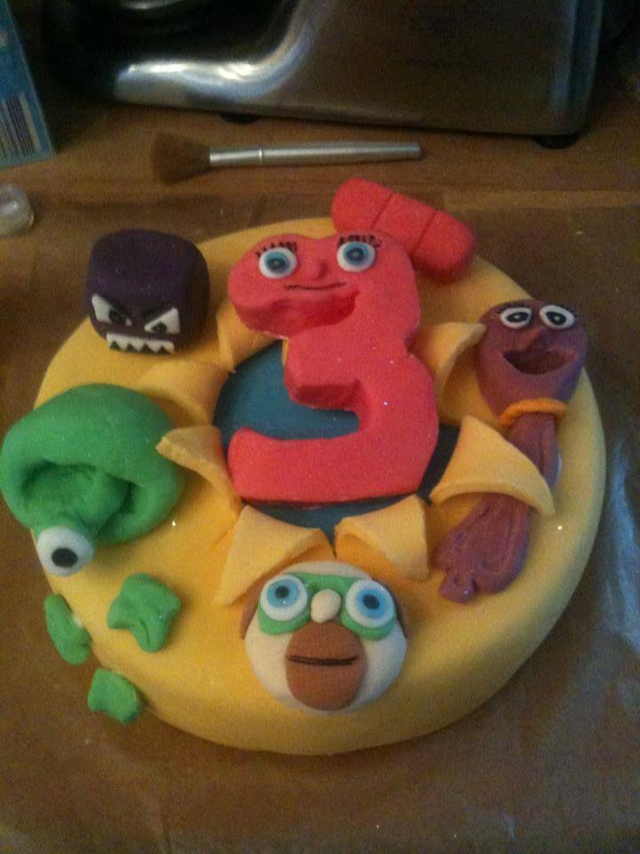 my sons homemade 3rd birthday cake numberjacks from cbeebies – Numberjacks Birthday Card