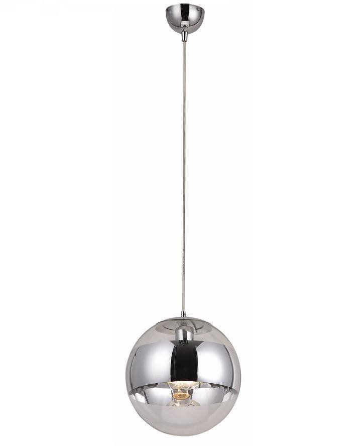 pendelleuchte pendellampe kugel chrom glas modern lampe