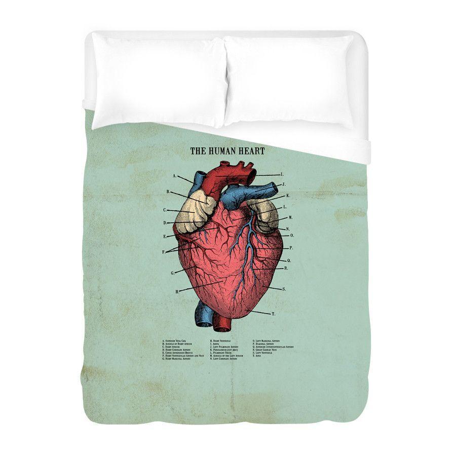The Human Heart Duvet Cover