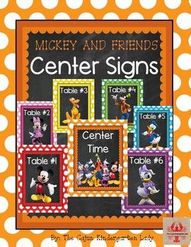 Editable Mickey Mouse and Disney Friends Table Signs #disneycharacters