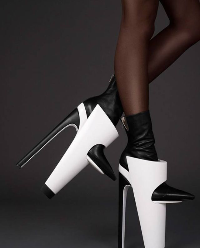 Way out there heels for Lady Gaga's next video? lol | Scarpe