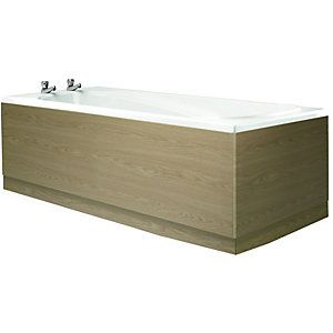 Wickes Bath Front Panel Light Oak Effect 1700mm £50 ...