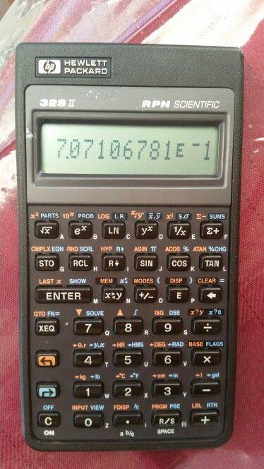 HP 32Sii RPN scientific calculator | HP Calculators in 2019