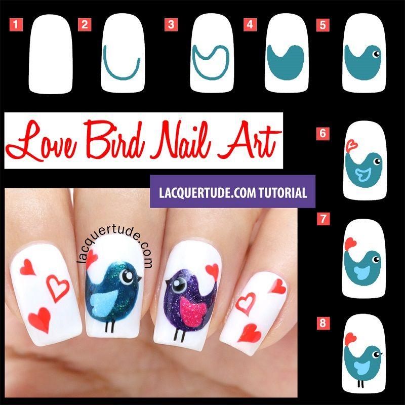 uñas decoradas con pajaritos | nail art | Pinterest | Uña decoradas ...