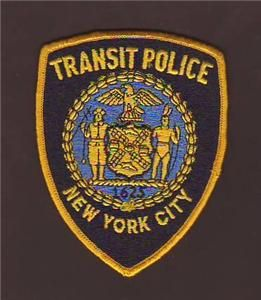 New York Transit Police Dept Uniform Patch