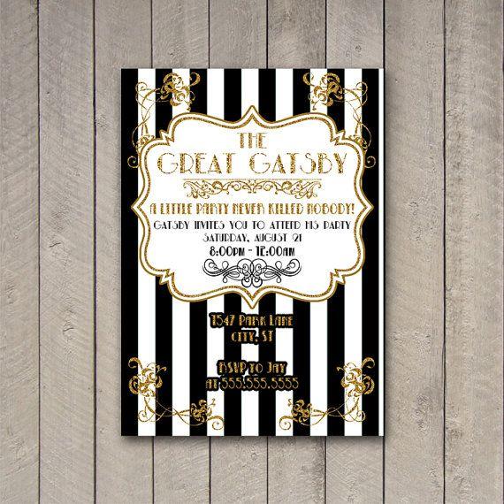 Gatsby Party Invitation The Great Gatsby Party Invite Gatsby Party