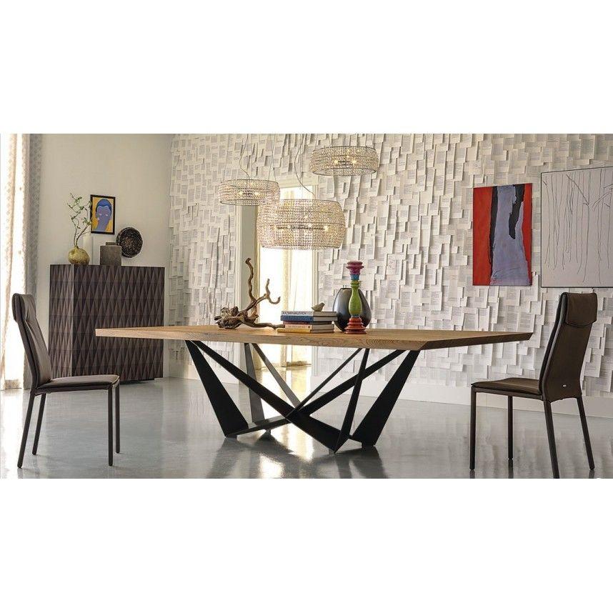 Table Bois Metal Design: Table Bois Acier TENDANCE R 102
