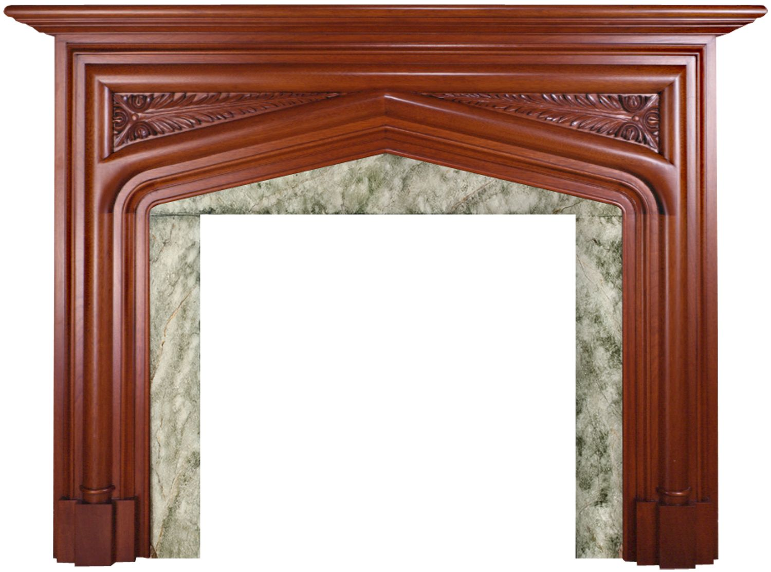 gothic tudor style wood fireplace mantel with hand carved apron and rh pinterest com