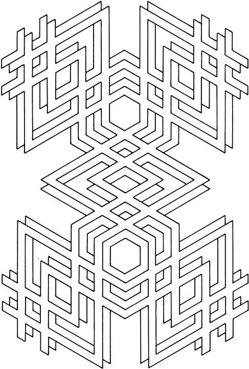 Geometric Shapes Cartoon Coloring Page Geometric Coloring Pages Coloring Pages Pattern Coloring Pages