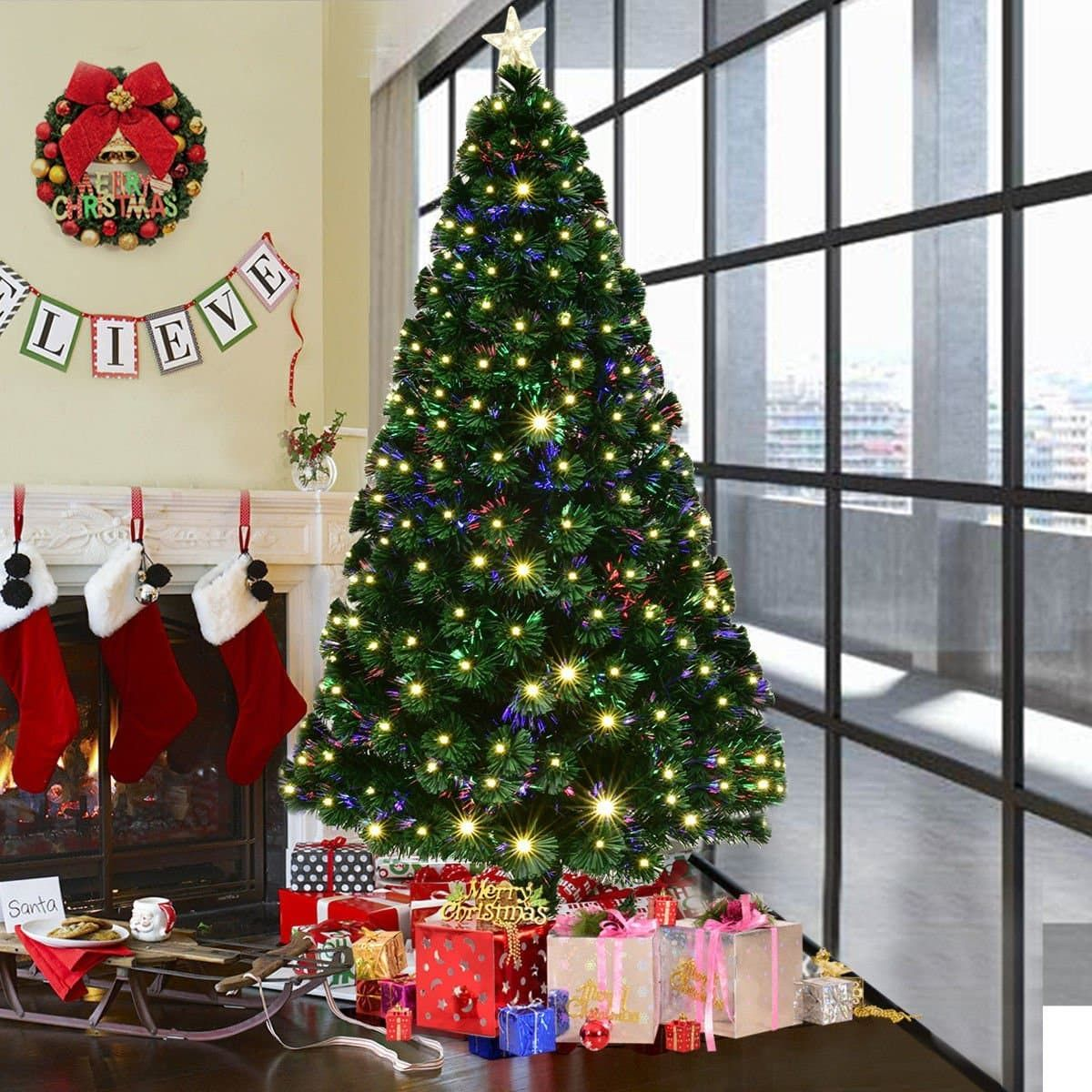 Best Artificial Christmas Trees In 2020 Artificial Trees For Christmas Fiber Optic Christmas Tree 6ft Artificial Christmas Tree Real Christmas Tree