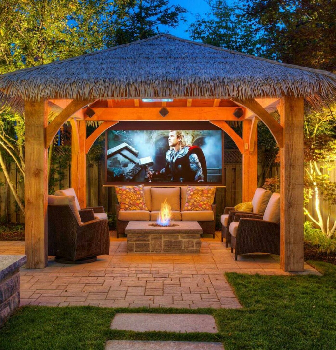 Teepee Pergola With A Projector Screen..... Maybe For