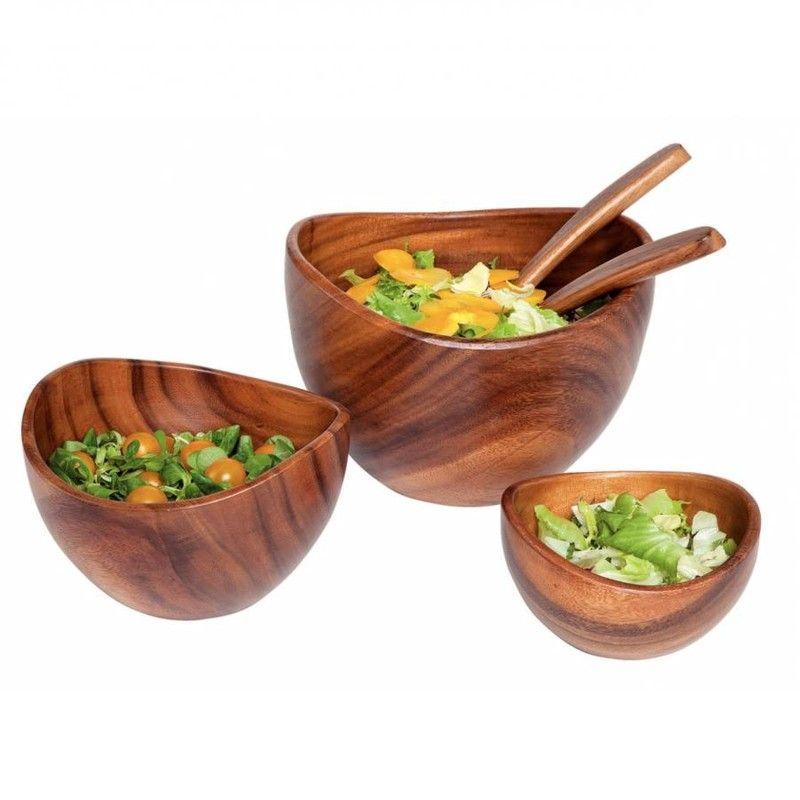 Salatschüssel Holz akazie salatschüssel holz zum einsortieren