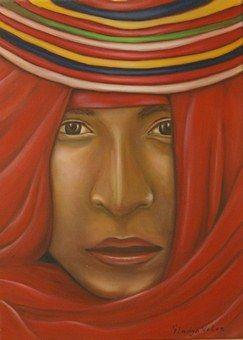"""Espacio Emergentes: Gladys Velez.     """"El Arte Colombiano es inmensamente creativo. Es la búsqueda de nosotros mismos"""".      Pintura / Colombia (click imagen para visitar el sitio y participar)."""