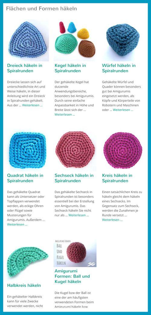 Flächen Formen Häkeln Crochet Pinterest Crochet Knitting