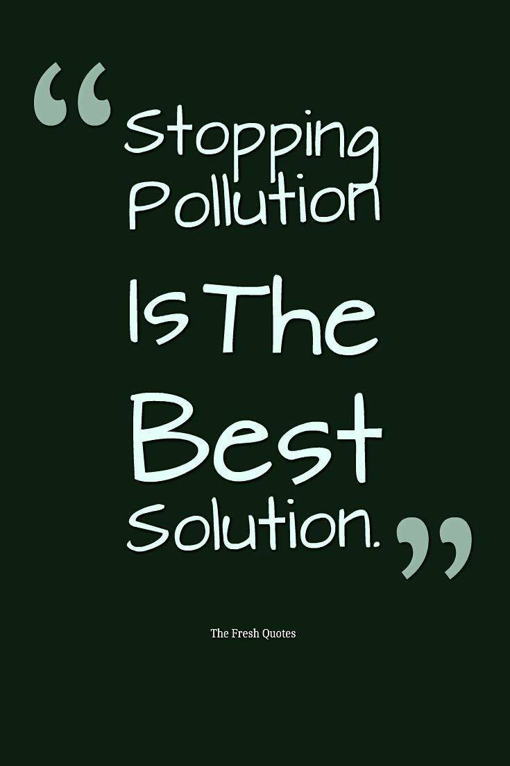 Short Paragraph About Solution Of Pollution