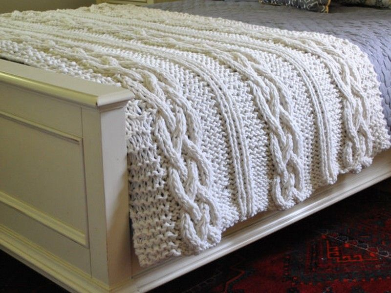 Chunky Cable Knit Bedding