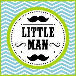 Babyshower · Free Printables Birthday Party Little Man Mustache Bash
