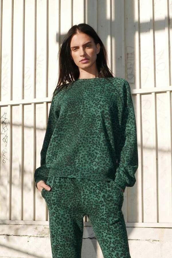 9f93fd107298 Rag Doll Ragdoll OVERSIZED SWEATSHIRT Green Leopard #Ragdoll#Doll#Rag