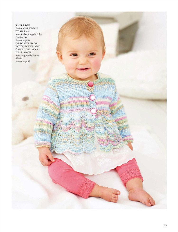Lace Baby Cardigan Knitting Pattern. Pattern: 1, 2 more free baby ...