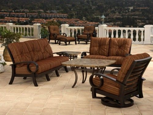 Westfield Outdoor Dining Set By Mallin | Discount Furniture San Diego