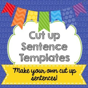 Make your own cut up sentence resources. Simply add your words to ...